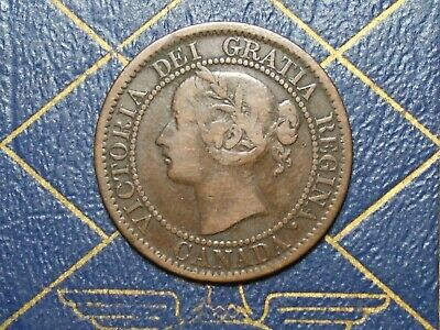 Very Nice 1859 Canada Large Cent Queen Victoria  lot 13