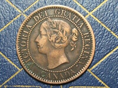 Very Nice 1859 Canada Large Cent Queen Victoria  lot 15