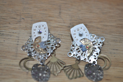 antique vintage watchmakers set of earrings unique made from antique watches