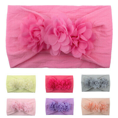 Toddler Baby Girl Chiffon Flower Wide Headband Hair Band Accessories Nice