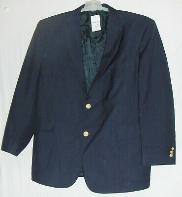 NEW DAVID TAYLOR NAVY SPORT JACKET 44R men BLAZER COAT SINGLE BREASTED WOOL BLND