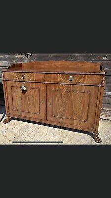 Beautiful French 19th Century Solid Mahogany Sideboard Antique Chic(Louis Ercol)