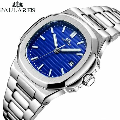 Classic Luxury Automatic Nautilus Mechanical Luminous Stainless Steel Mens Watch