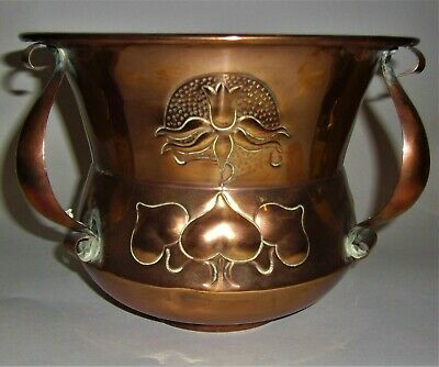 Original Arts & Crafts - Nouveau Copper Jardiniere / Planter - Romola