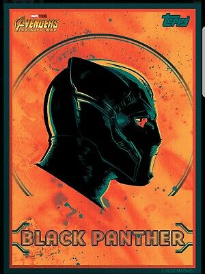 Topps Marvel Collect 2020 Avengers Infinity War Headshots BLACK PANTHER