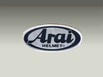 2 PATCH TOPPE ARAI HELMET RICAMATE TERMOADESIVE  embroidered logo patch