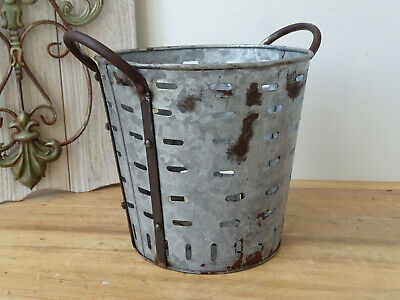 U0458 Small Oliveneimer~Iron~Olivenkorb ~Olive Bucket~ Washtub
