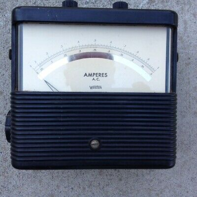 Analog AC Ampere Meter, Rang  0 --- 0.5 A, 0----1 A,Weston Electrical Instrument
