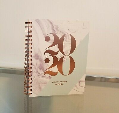 Fringe 2020 Planner Daily Agenda White Marble Pastel Green Rose Gold NEW