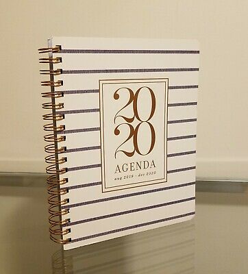 Fringe 2020 Planner Daily Monthly Agenda White Navy Blue Rose Gold NEW