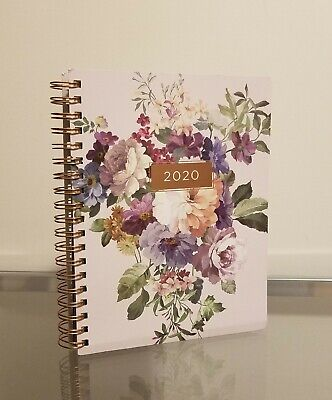 Fringe 2020 Planner Daily Monthly Agenda Pink Floral Grey with Rose Gold NEW