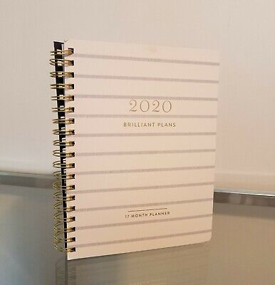 Fringe 2020 Planner Daily Monthly Agenda White Blue Stripe NEW