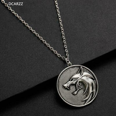 Witcher Wolf Head Medallion Cosplay Geralt of Rivia Pendant Necklace Men Gift