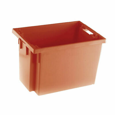 NEW! Solid Slide Stack/Nesting Container 600X400X400mm Red 382969