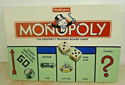 MONOPOLY Fun Family Property Trading Board Game Waddingtons COMPLETE VGC RARE