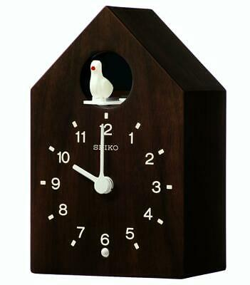 Seiko Wooden Cuckoo Clock QXH070B RRP £80.00 Our Price £69.95 Free UK P&P