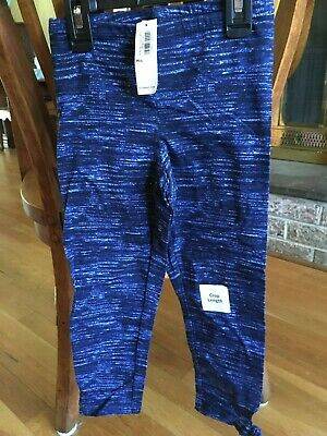 Girls Old Navy Blue Capri leggings Size Medium New with tags