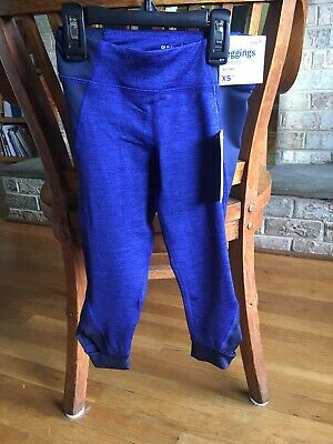 Girls New Old Navy Size 5 Mid Rise Blue Leggings Go Dry Nwt