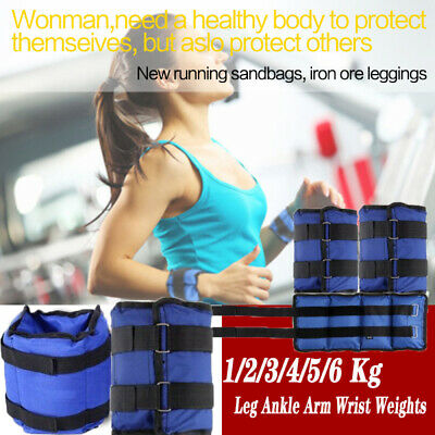 1-6Kg Leg Ankle Arm Wrist Weights Exercise Running Strength Training UK Stock