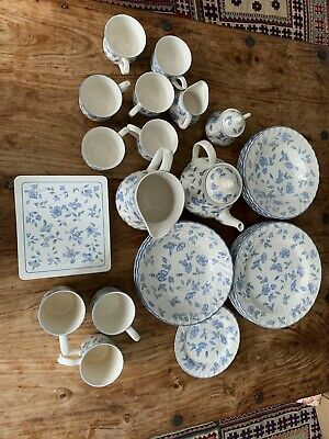 BHS Bristol Blue-  place mats, dinner plates,  tea set etc (not joblot )