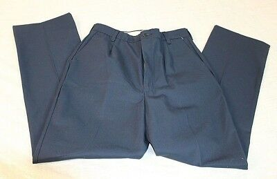 NWT Red Kap Womens Size 28x30 Blue Uniform Pants Pleated Front  Poly ##