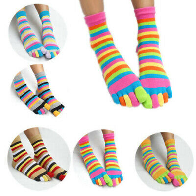 Girls Kids Breathable Comfy Ankle High Stripes Casual Hosiery Shoes Warm Socks