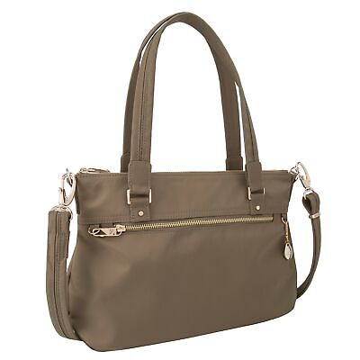 Travelon Women's Anti-Theft Tailored Satchel Travel Purse, Sable, One Size