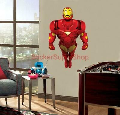IRON MAN Decal Removable WALL STICKER Art Decor Mural Avengers Marvel Super Hero