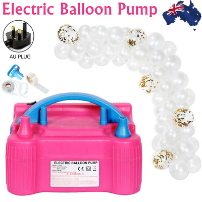 Air Balloon Pump 2Nozzle Electric Automatic Portable 600W Inflator +Balloon Kit