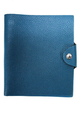 Hermes Togo Leather Ulysses MM Agenda Cover Teal