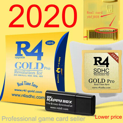 2Pcs R4 R4i Gold Pro SDHC for DS/3DS/2DS/ Revolution Cartridge With USB Adapter