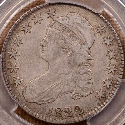 1822 O.114 Capped Bust half dollar, PCGS VF25, sweet coin     DavidKahnRareCoins
