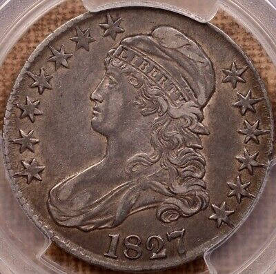 1827 O.121 Capped Bust half dollar, PCGS XF45, pleasing PQ   DavidKahnRareCoins
