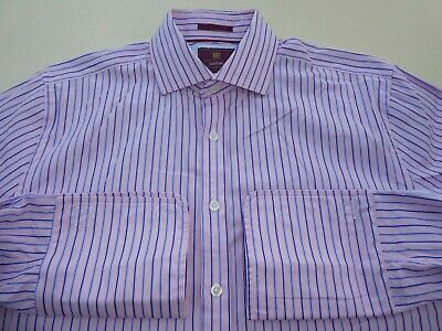 Marks & Spencer Collection Luxury Slim Fit Superior 2 Fold Cotton Shirt 16.5""