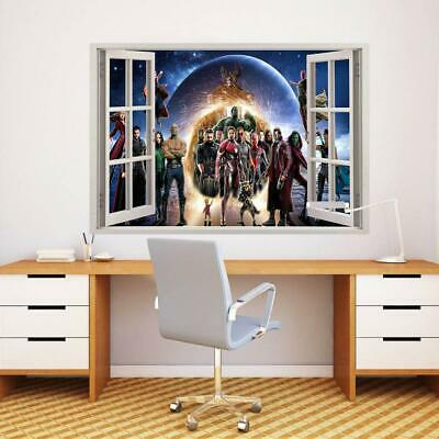 Avengers End Game Characters 3D Window Decal Wall Sticker Art Mural Marvel W067
