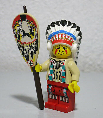 LEGO Minifig Indian Headdress Colored Feathers Gold Dots And Black Hair NEW
