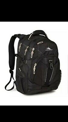 High Sierra XBT Backpack Black Laptop compartment Multi Pockets TSA Friendly
