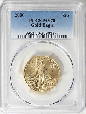2000 Gold Eagle $25 Pcgs Ms70 Pop Only 26 Coins
