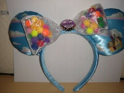 Disney Parks UP Grape Soda Cap Minnie Mouse Blue Cloud Ears headband Pixar