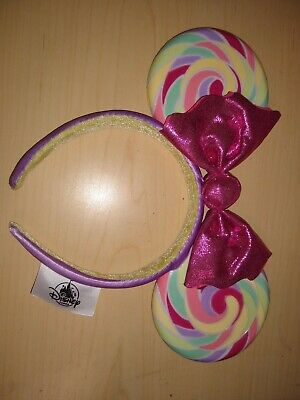 Minnie Ears Disney Parks Candy Cane Cutie Rare Lollipop Limited Party Headband