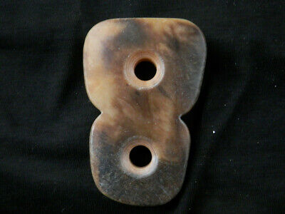 Great Chinese Old Jade *HongShan Culture* 2Holes Pendant G059
