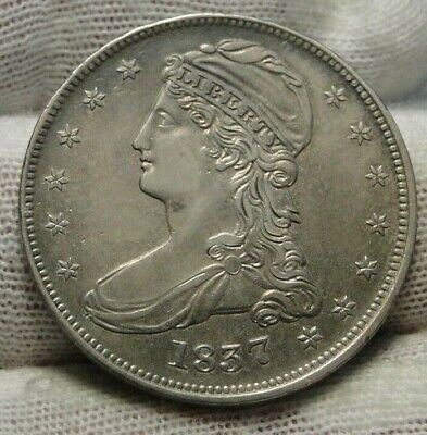 1837 Capped Bust Half Dollar 50 Cents -  Nice Coin Free Shipping (9067)