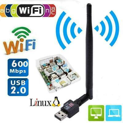 600Mbps USB Wifi Router Wireless Adapter PC Network 5 Ant LAN O0C9 + Card D C3M7