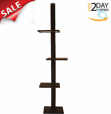 Cat Tree 3-Tier Floor to Ceiling Carpet Tower House Condo Furniture Post Scratch