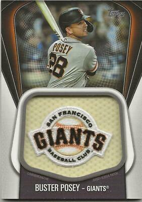 2020 Topps Series 1 BUSTER POSEY Jumbo Jersey Sleeve Patch Relic Giants #JJSP-BP