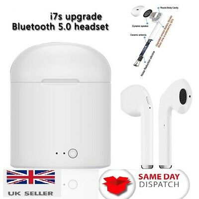 TWS I7S Wireless  Headphones Earphones Earbuds For ANY Bluetooth Device.Boxed