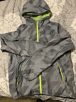 Mens Nike Windbreaker Grey And Yellow With Hood Size XL