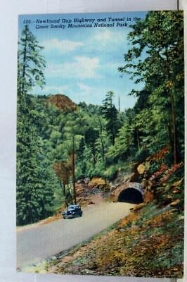 Great Smoky Mountains National Park Newfound Gap Tunnel Postcard Old Vintage PC