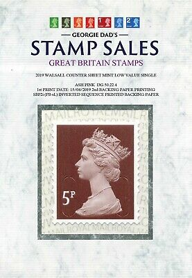 NEW FIND 15/04/2019 M19L Counter Sheet 5p Single SBP2i (PB-sL) Inverted Sequence