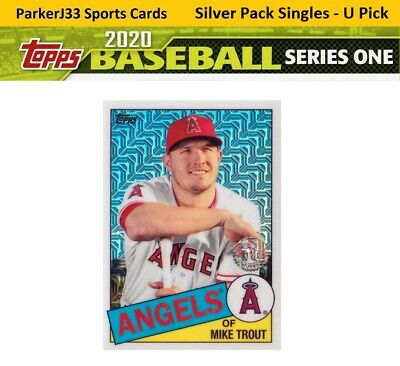 2020 Topps Series 1 1985 Topps Anniversary Silver Pack Chrome Singles - You Pick